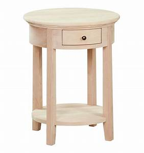 20 inch mckenzie round side tables bare wood fine wood With coffee table 20 inches high
