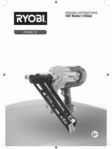 Ryobi R18nl15 Original Instructions Manual Pdf Download