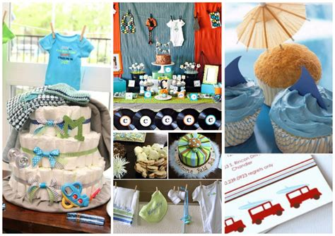 baby shower for guys baby boy baby shower themes party favors ideas