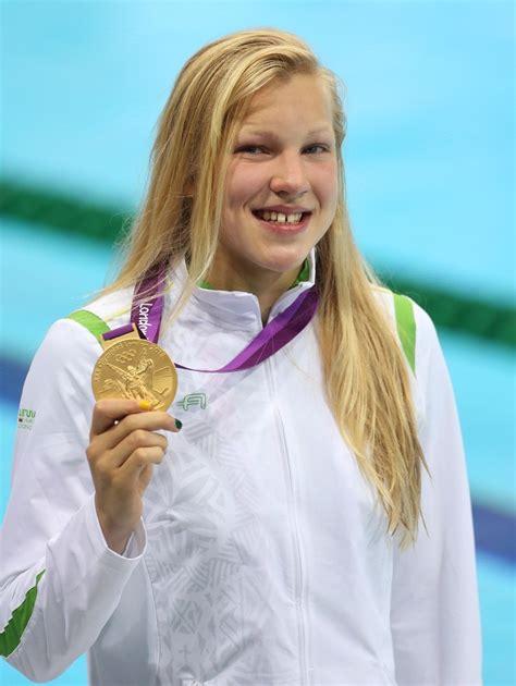 meilutyte ruta lithuania medal wins emas london soni rebecca 1997 usa swimming zimbio yang tahun meraih maret asal lahir itu