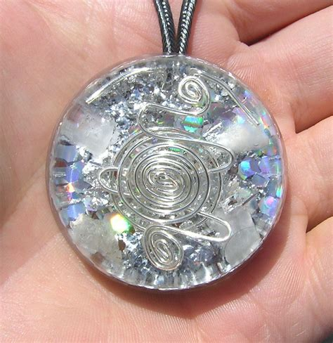 Orgone Pendant Collection orgone pendant petalite healing aura by