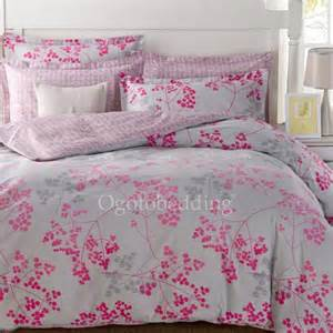clearance light grey and pink pattern cotton comforter sets queen size ogb14112205 78 99