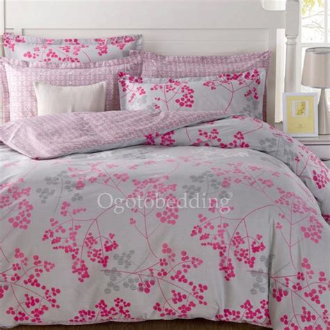 clearance light grey and pink pattern cotton comforter