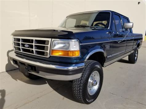 F250 Turbo Diesel Mpg by 1 Owner 1996 Ford F250 Crew Cab Shortbed Xlt 4x4 7 3