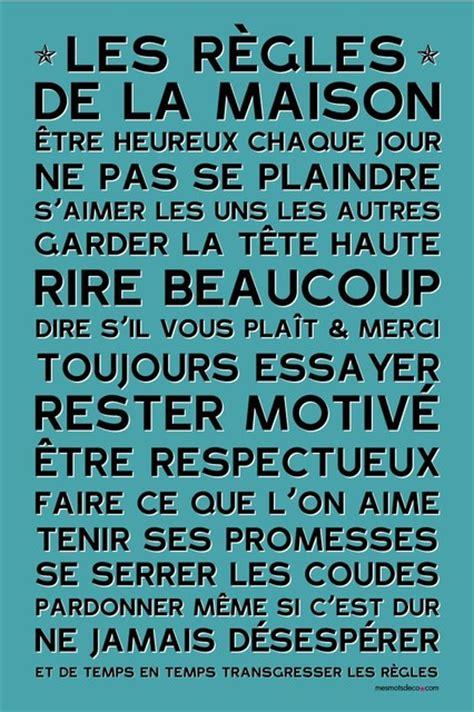 regles de la maison affiche adh 233 sive les r 232 gles de la maison bleu vintage contemporain sticker mural other