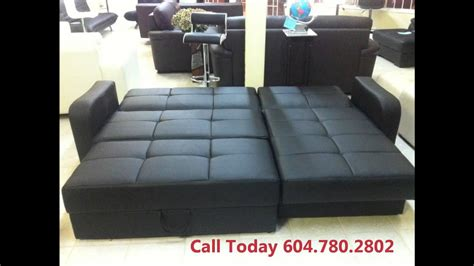 leather sofa bed sale vancouver youtube