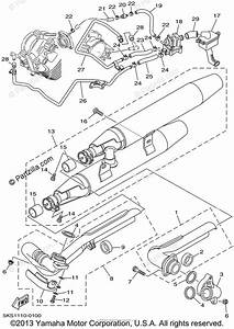 Yamaha Motorcycle 2002 Oem Parts Diagram For Exhaust