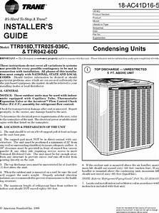 Trane Air Conditioner  Heat Pump Outside Unit  Manual L0801787