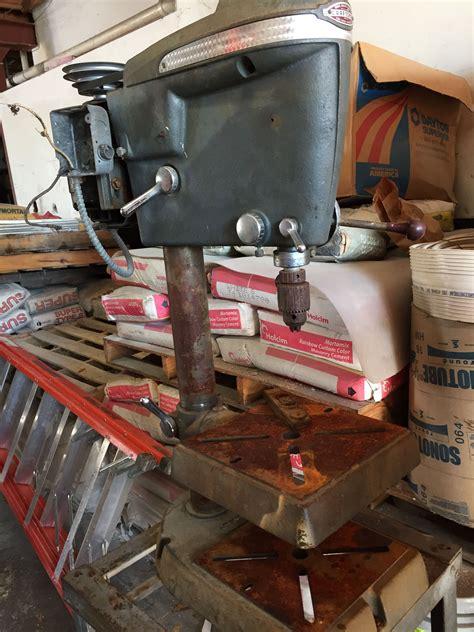 craftsman bench drill press  vintage