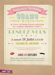 Faire Part Anniversaire 50 Ans : carte invitation anniversaire 30 ans carte invitation ~ Edinachiropracticcenter.com Idées de Décoration