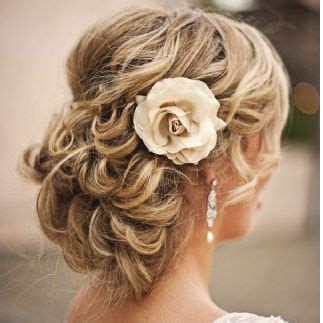 Wedding Updo Loose Pin Curls Muffin Top Vintage: Wedding