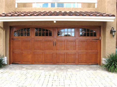 Wood Garage Door by Garage Door The Faux Wood Garage