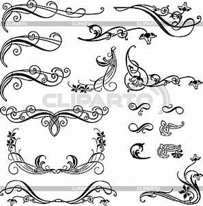 Jugendstil Florale Ornamente : ornamente serie von den bildern cliparto ~ Orissabook.com Haus und Dekorationen