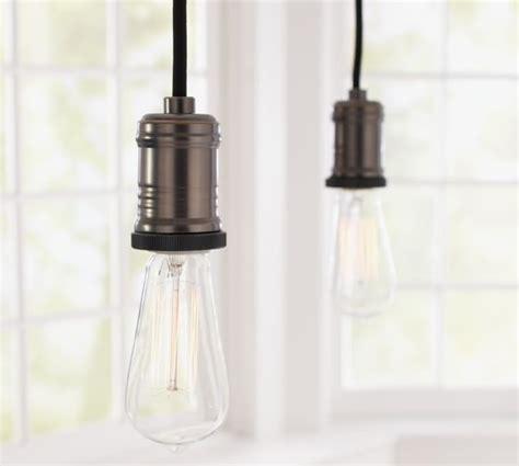 exposed light bulb chandelier exposed bulb pendant track lighting pottery barn