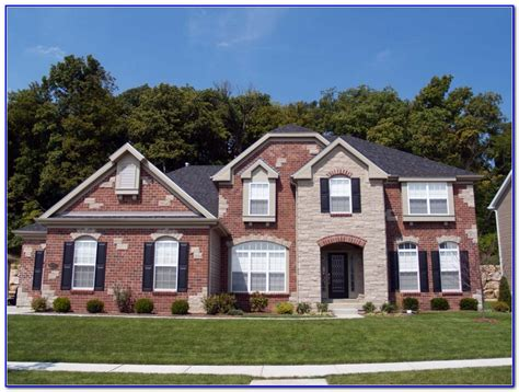 exterior paint colors with brick pictures painting home