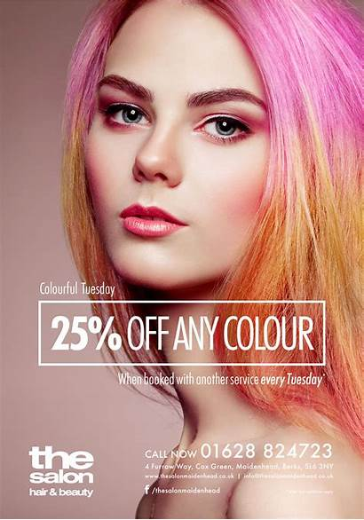 Salon Poster Colour Campaign Designs Offer Hair
