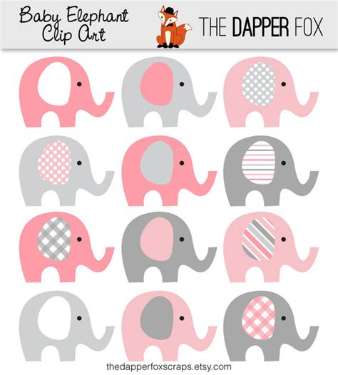 pink and gray elephant clipart pink and gray elephant clip art images clipartimage com