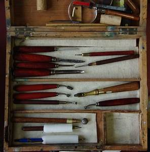 quotetching tools stored in my grandmother39s old wooden paint With wood letter engraving kit