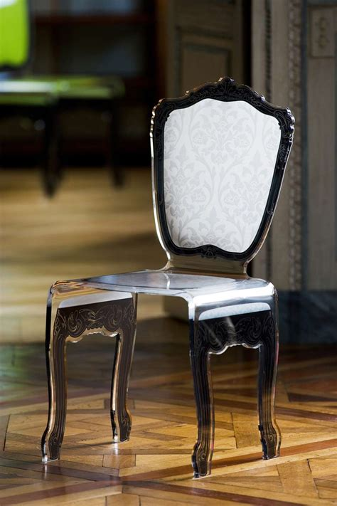 chaises plexiglass chaise baroque en plexiglas