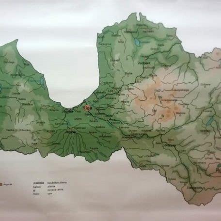 Latvijas ģeogrāfijas karte - Muzle