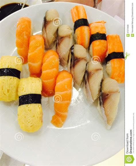 cuisine sold food ready to eat sushi stock photo image 61374908