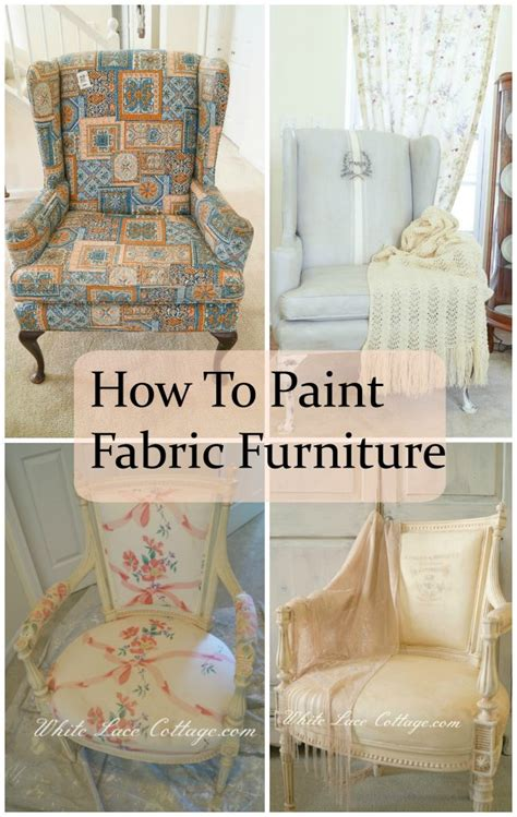Painted Upholstery Fabric by How To Paint Fabric Furniture White Lace Cottage
