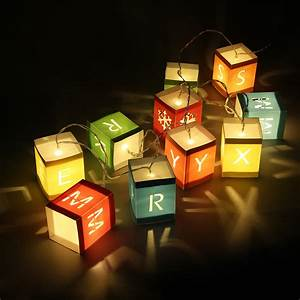 2x led merry xmas letter block fairy string lights With block letters with lights