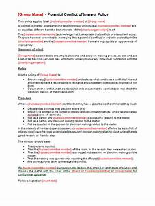 conflict of interest policy template making music With conflict of interest declaration template