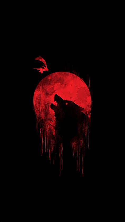 Alpha Wolf Blood Moon Wolf Wallpaper blood moon wolf iphone wallpaper iphone wallpapers