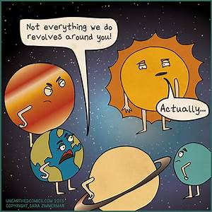 Science humor and astronomy comics about sun and planets ...