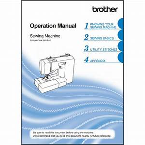 Instruction Manual  Brother Xr3240   Sewing Parts Online
