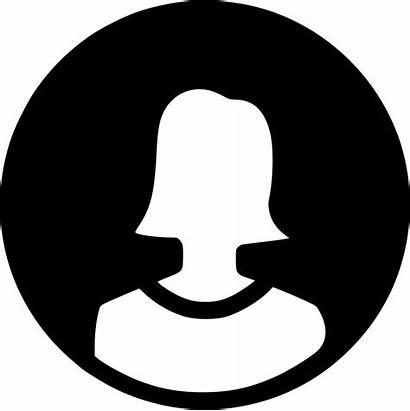 Icon Profile Female Round Svg Circles Users