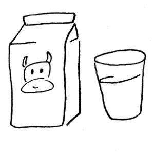 Milk Carton Black And White Clipart - Clipart Suggest