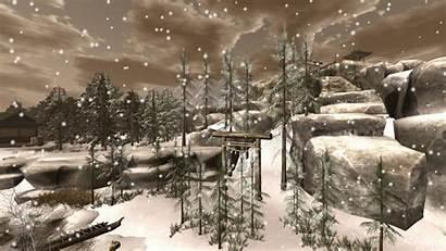 Christmas Scenes Snow Animated Merry Dream Winter