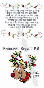 Personalized reindeer repair kit printable bag topper for Personalized letter from santa with reindeer food