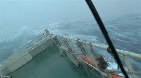 Hurricane Deck Boat On Choppy Water by Sea Shows Exactly What It Is Like To Be On