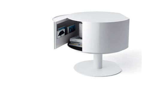 table de nuit blanche pas cher table de nuit ronde blanche design en image