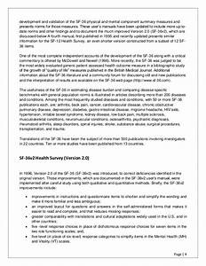 Sf 36 Health Survey Manual And Interpretation Guide 1993