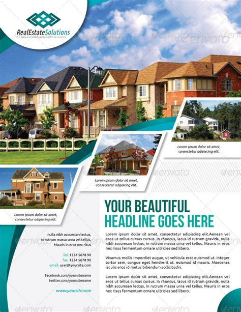 beautiful real estate flyer templates ai word