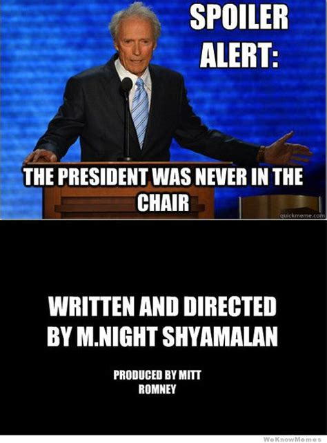 Obama Empty Chair Meme by Best Of The Eastwooding Meme Weknowmemes