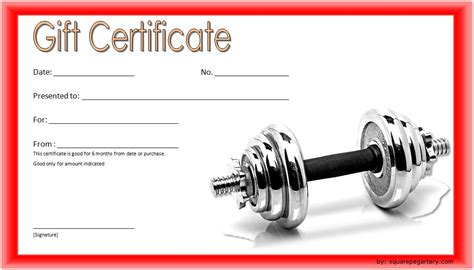 editable fitness gift certificate templates   designs