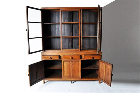 British Colonial Style Breakfront Bookcase At 1stdibs