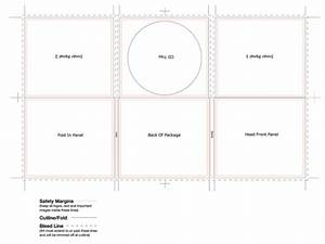 cd digi case 6 panel template tray center 2 spine With cd spine template