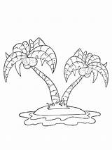 Island Coloring Pages Mycoloring Printable sketch template