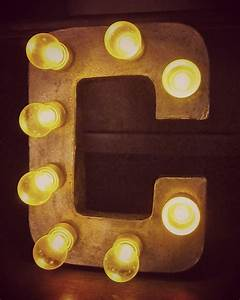 sign letters tutoria make your own light up marquee With paper mache letter lights