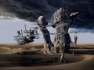 Modern art surrealism poster, print, wallpaper The Langoliers or Inevitable Entropy