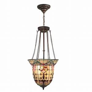 Dale tiffany red baroque light antique bronze hanging