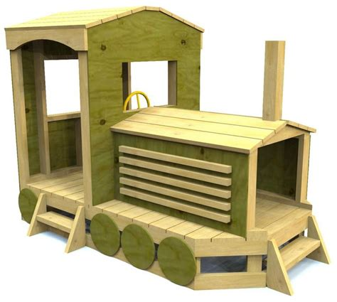 pauls train harris woodworking  kids playhouse