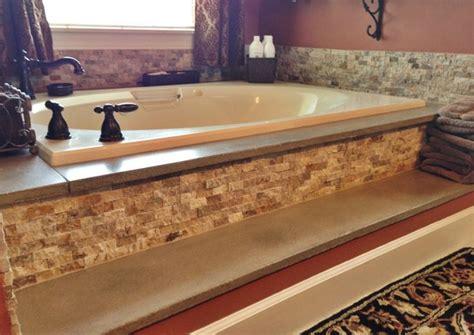 blue kitchen backsplash concrete bathtub surround and travertine stacked 1728