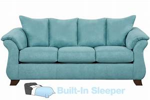 Taffy Microfiber Queen Sleeper Sofa At Gardner White
